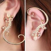 HuaYang Cool Gecko Style Earring Ear Stud Ear Bone Clip Ear Cuff Wrap 1Pcs