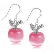 Jiayiqi Apple shape Drop Dangle Earrings