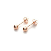 18K Rose Gold Plated Stud Earrings with Gift Box - 3mm