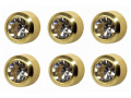 6 Pairs of Studex Ear Piercing April / Crystal Birthstone Gold Plated Stud Earrings Regular 4mm Bezel Setting