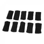 Basketball Sports Black Elastic Finger Sleeves Wrap 10 Pcs