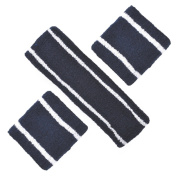 GOGO Two Colour Stripe Sweatband Set