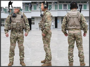 Men Army Military Equipment Airsoft Paintball Shooting BDU Uniform Combat Gen2 Tactical Uniform Shirt Pants Protective Pads Multicam MC