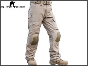 Men Army Military Equipment Airsoft Paintball Shooting BDU Trousers Combat Gen2 Tactical Pants with Knee Pads Tan