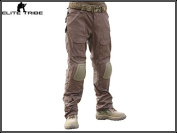 Men Military Airsoft Paintball Trousers Combat Gen2 Tactical Pants with Knee Pads Coyote Brown
