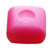 Set of 3 Mini Bathroom Soap Dishes Travel Soap Holders Soap Boxes Case Rose Red