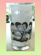 THE FAB FOUR PINT SIZE BEER GLASS CARTOON