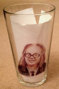 ON THE BUSES Olive BEER GLASS, Anna Karen