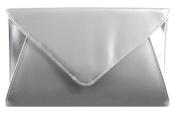 Girly HandBags Designer Patent Faux Leather Plain Envelope Evening Clutch Bag Ladies