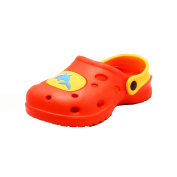 Childrens Beach shoes rubber clog style with shark motif