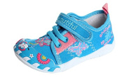 Slippers Girls Casual Canvas Blue / Purple / Red with . Fastener in sizes up to 30