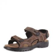 Mens Comfortable Leather Activity Adventure Velcro Strap Sports Sandals