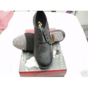 cg54 capezio black leather tap shoes teletone heel and toe taps west end from jems chelmsford uk 6.5 us 9