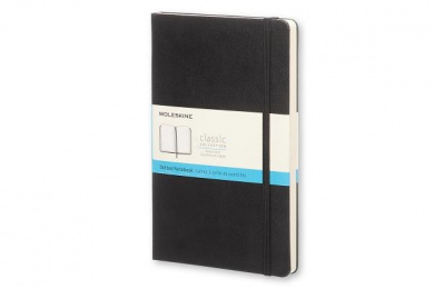 Moleskine Classic Notebook, Large, Dotted, Black, Hard Cover (5 X 8.25)