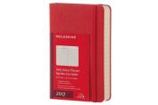 Moleskine 2017 Daily Planner, 12m, Pocket, Scarlet Red, Hard Cover