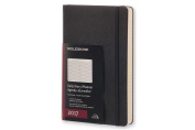 Moleskine Daily Planner, 12m, Large, Black, Hard Cover