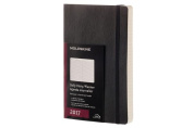 Moleskine 2017 Daily Planner, 12m, Large, Black, Soft Cover