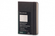 Moleskine 2017 Weekly Notebook, 12m, Pocket, Black, Hard Cover