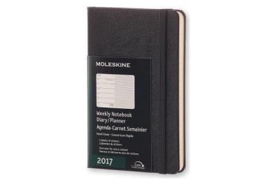 Moleskine 2017 Weekly Notebook, 12m, Pocket, Black, Hard Cover (3.5 X 5.5)