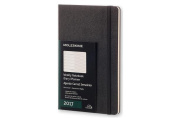 Moleskine 2017 Weekly Notebook, 12m, Large, Black, Hard Cover