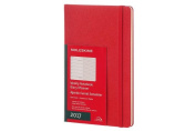 Moleskine 2017 Weekly Notebook, 12m, Large, Scarlet Red, Hard Cover