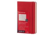 Moleskine 2016-2017 Weekly Planner, Horizontal, 18m, Pocket, Scarlet Red, Hard Cover