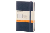Moleskine Classic Notebook, Pocket, Ruled, Sapphire Blue, Hard Cover