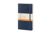 Moleskine Classic Notebook, Large, Ruled, Sapphire Blue, Hard Cover