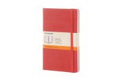 Moleskine Classic Notebook, Large, Ruled, Coral Orange, Hard Cover