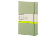 Moleskine Classic Notebook, Large, Plain, Willow Green, Hard Cover