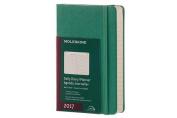 Moleskine 2017 Daily Planner, 12m, Pocket, Malachite Green, Hard Cover