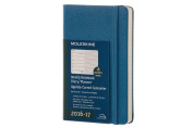 Moleskine 2016-2017 Weekly Notebook, 18m, Pocket, Steel Blue, Hard Cover