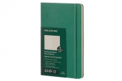 Moleskine 2016-2017 Weekly Notebook, 18m, Large, Malachite Green, Hard Cover