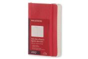 Moleskine 2017 Daily Planner, 12m, Pocket, Scarlet Red, Soft Cover