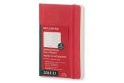 Moleskine 2016-2017 Weekly Notebook, 18m, Pocket, Scarlet Red, Soft Cover
