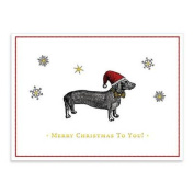Alice Scott Christmas Dachshund Embellished Notecards