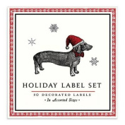Alice Scott Christmas Dachshund Book of Labels