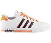 Adidas Men's Daily Team Footwear - White/Orange/Black, Size 11