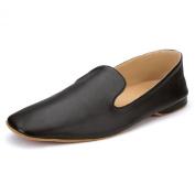 Samuel Windsor Men's Leather Albert Slippers Black.