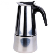 Stove Top Stainless Steel Espresso Moka Coffee Pot Maker Machine Percolator 6 Cup
