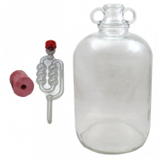 Glass Demijohn 5 Litre With Airlock And Bung