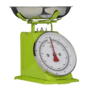Premier Housewares 5 kg Retro Kitchen Scale, Lime Green
