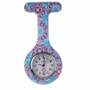 Meily Silicone Round Dial Quartz Pocket Nurse Watch