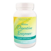 GLOBAL HEALTH TRAX ACTIVE DIGESTIVE ENZYMES COMPREHENSIVE FORMULA WITH 17 DIGESTIVE ENZYMES. 90 Caps