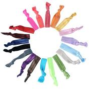 Wuiyepo Women 100 Pcs / lot Candy Colour Ribbon Ponytail Holder Elastic Band / Hair Ties Girl Hair Accessories