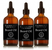 3 Organic Beard Oils 3 x 30ml. Conditioning Male Grooming Skincare 100% Natural with Essential Oil, Argan, Jojoba, Sunflower, Hemp Seed & Coconut with Gift Box Oil Promotes Beard Growth. Great Gift