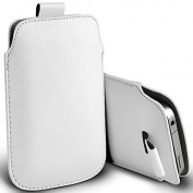 White PU Leather Pull Tab Pouch Cover Case for for for for for for for for for for for Samsung Galaxy S4 by Digi Pig