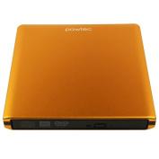 Pawtec Signature External USB 3.0 Aluminium 8X DVD-RW Writer Optical Drive For PC Windows & Mac - ORANGE