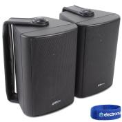 2x Adastra Black Wall Mountable Surround Sound Home Audio Hi-Fi Speakers 60W