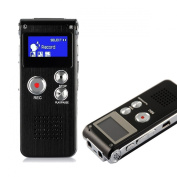 HccToo 8GB Multifunctional Digital Voice Recorder Rechargeable Dictaphone Stereo Voice Recorder with MP3 Player Perfect for Recording Interviews, Conversation and Meetings
